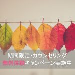 【期間限定】カウンセリング無料体験キャンペーン実施中!